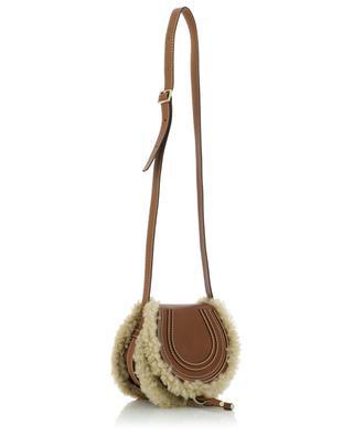 Mini-Schultertasche aus Leder und Schafswolle Marcie CHLOE