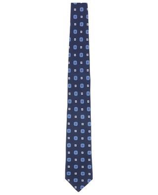 Cravate côtelée imprimée fleurs KITON