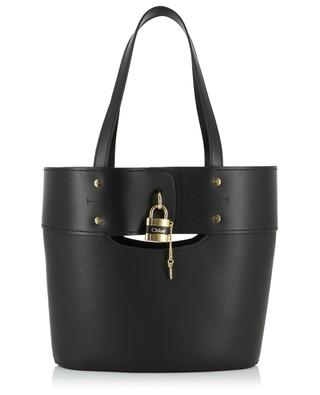 Aby Medium smooth and grained leather tote bag CHLOE