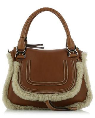 Marcie grained leather and shearling handbag CHLOE