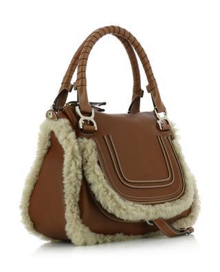 Handtasche aus genarbtem Leder und Lammfell Marcie CHLOE