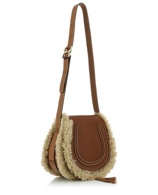 Marcie leather and shearling bag CHLOE
