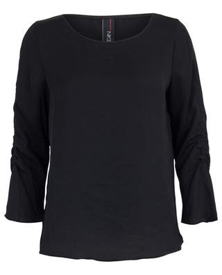 Blouse with gathered three-quarter sleeves MARC CAIN