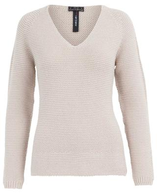 Cotton, wool and alpaca blend V-neck jumper MARC CAIN