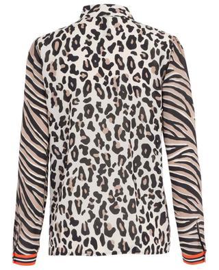 Leopard and zebra print silk blend shirt MARC CAIN