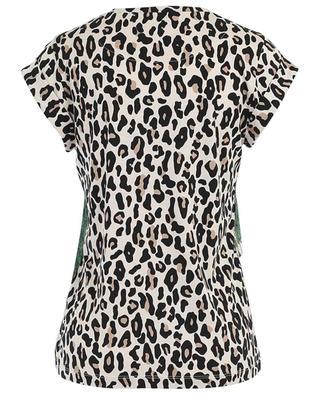 Top manches courtes en coton et soie imprimé léopard MARC CAIN