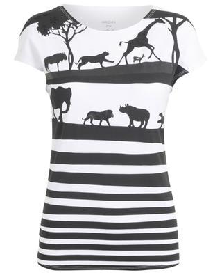 T-Shirt mit Tierschatten und Lackdetails MARC CAIN