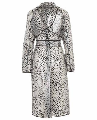 Leopard Dots clear printed rain coat MARC CAIN