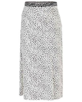 A-förmiger Midirock aus Crêpe mit Print Leopard Dot MARC CAIN