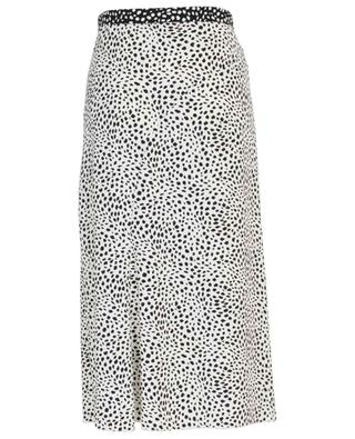 Jupe midi trapèze en crêpe imprimée Leopard Dot MARC CAIN