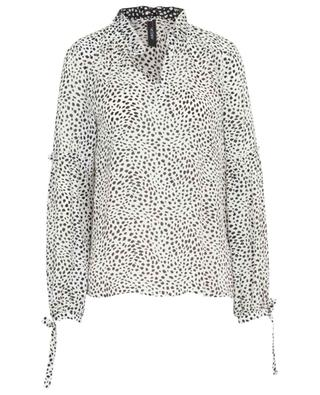 Bluse aus Viskose und Seide mit Print Leopard Dot MARC CAIN