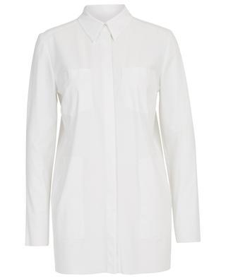 Langes Hemd aus Crêpe mit Taschen MARC CAIN