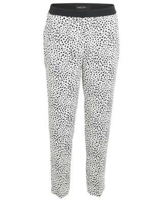 Verkürzte Crêpe-Hose mit Leopardenprint Leopard Dot MARC CAIN