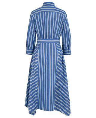 Gestreiftes langes Hemdkleid aus Baumwolle und Leinen MARC CAIN
