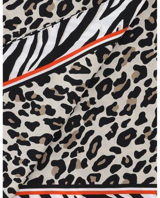 Foulard en soie imprimé léopard et zèbre MARC CAIN