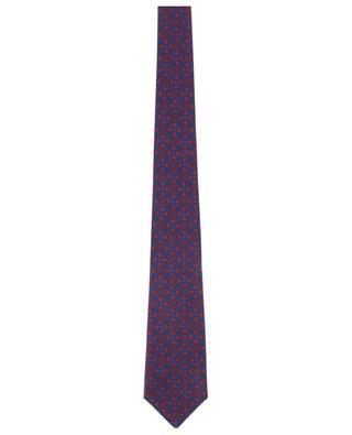 Cravate fleurie en soie texturée KITON