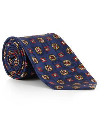 Krawatte aus geblümtem Jacquard mit Blütenprint KITON
