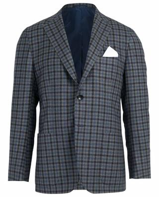 Check pattern wool blazer KITON