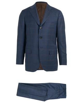 Check pattern wool suit KITON