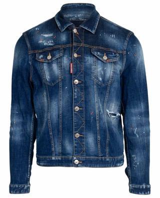 Jacke aus Jeans mit Rissen und Flecken Dan DSQUARED2
