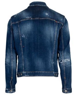 Veste en jean avec déchirures et taches Dan DSQUARED2