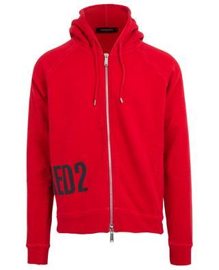 Sweat-shirt zippé imprimé logo DSQUARED2