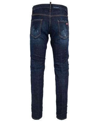Cool Guy stained distressed cotton jeans with rips DSQUARED2