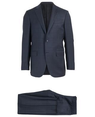 Anzug aus Wolle und Seide mit Print ERMENEGILDO ZEGNA