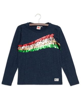 T-Shirt aus Baumwolle mit Paillettenstickereien AO76