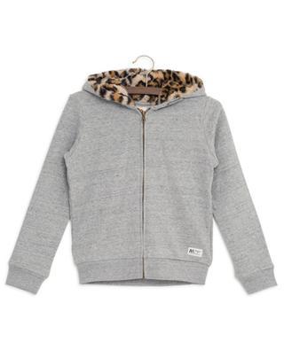 Sweat-shirt zippé à capuche Leopard AO76
