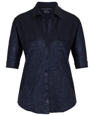 Sparkling linen blend T-shirt MAJESTIC FILATURES