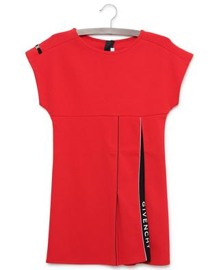 Short-sleeved jersey dress with logo pleat GIVENCHY