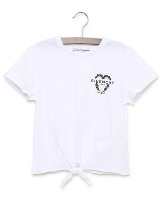 Heart embroidered front tie T-shirt GIVENCHY