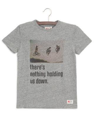 T-shirt en coton imprimé vélos AO76