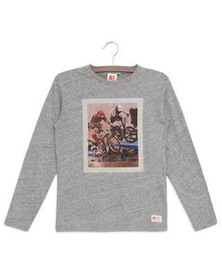 Langarm-T-Shirt mit Print Bikers AO76