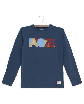 T-shirt imprimé logo à manches lognues AO76 AO76