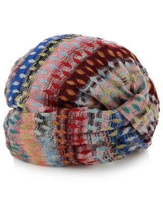 Glittering diamond pattern knit beach turban MISSONI MARE