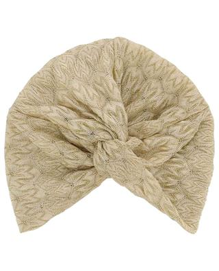 Gold lamé knit beach turban MISSONI MARE