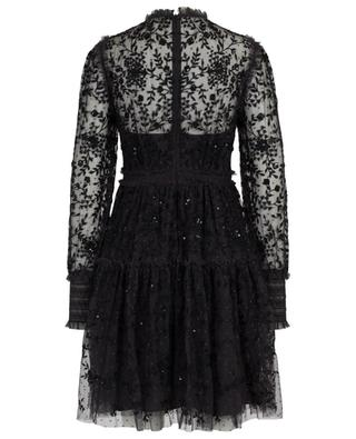 Whitethorn floral sequin mini dress in tulle NEEDLE &THREAD