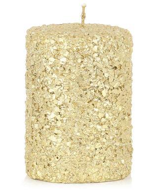 Bougie-pilier pailletée dorée Glitter Small KLEVERING