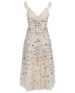 Wildflower Sequin embroidered tulle midi dress NEEDLE &THREAD