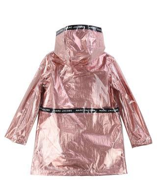MJ Tape foil rain coat with hood LITTLE MARC JACOBS