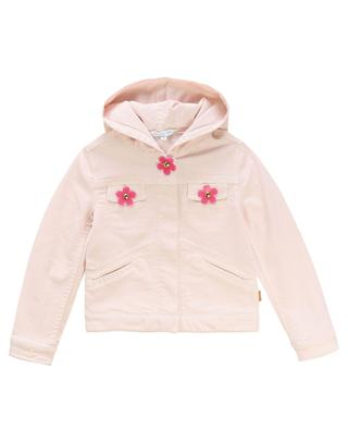 Daisy hooded pink denim jacket LITTLE MARC JACOBS