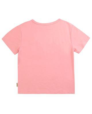 T-Shirt mit Perlen-Logo-Stickerei LITTLE MARC JACOBS