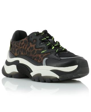 Addiction lace-up sneakers with leopard details ASH