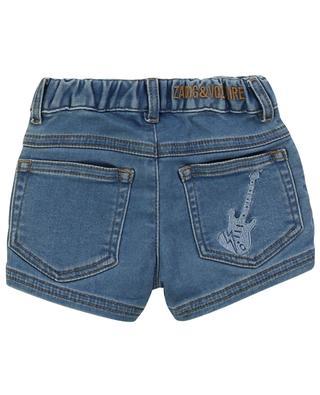 Judy denim effect felted cotton baby shorts ZADIG & VOLTAIRE