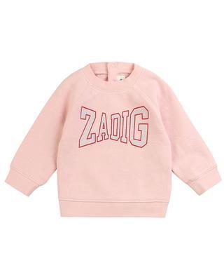 Sweat-shirt bébé imprimé logo Fan ZADIG & VOLTAIRE