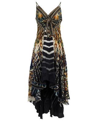 Lost Paradise asymmetrical print silk dress AGENT CAMILLA