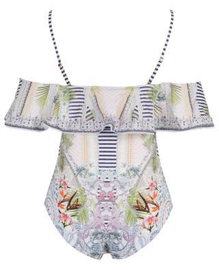 Beach Shack one-piece ruffled swimsuit CAMILLA