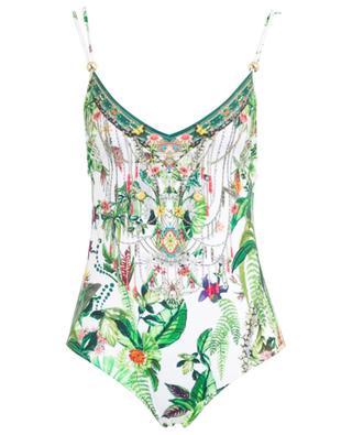 Maillot de bain imprimé jungle avec cristaux Daintree Darling CAMILLA